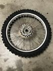 HONDA CRF250f CRF 250R FRONT WHEEL HUB TIRE (DENTED) SEE PICTURES