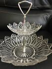 Federal Glass Two Tier Tidbit Tray Dish Bowl