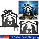 Nativity Holy Family Metal Yard Stake Silhouettes CHRISTMAS Outdoor Decoration