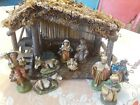 Vintage Nativity Set Chalkware Composite Made In Italy Sold by Sears
