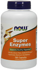 NOW Foods Super Enzymes Health Digestion Nutrient Availability 180 Caps 1/2022EX