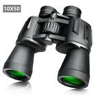 Full Size 10 x 50 Binoculars Outdoor Travel Folding Telescope Bird Watching Bag