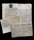 1681 LOT OF FOUR Original handwritten documents with a letter