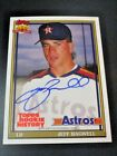 2018 TOPPS ARCHIVE ROOKIE HISTORY JEFF BAGWELL AUTO ON CARD RED FOIL 9 10 ASTROS