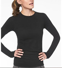 NEW Athleta Womens Foresthill Ascent Top NWT Small Large Black Peat Rose