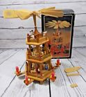 Vintage Wood Carousel Nativity 3 tier Pyramid Windmill Revolve Candle