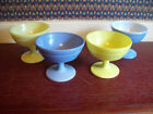 Lot of 4 Vintage Hazel Atlas Sherbet Dishes Two/Blue Two/Lime Green