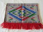 1935 Antique Wall Hanging Tapestry Medieval Woven Wool, FRINGE