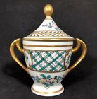 Chinese Porcelain Custard Chocolate Cup With Double Handle And Cover Enamel 15C
