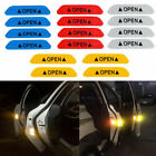 4 Safety Reflective Tape Open Sign Warning Mark Car Door Stickers Accessory