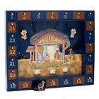 Nativity Advent Calendar with 24 Magnetic Piece Wood Construction Xmas Countdown
