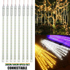 192 288LED Meteor Shower Falling Rain Drop Icicle Christmas Party Outdoor Lights