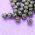 Wholesale Filigree Round Spacer Beads Silver Gold Bronze Black Plated 468mm