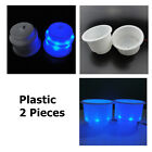 2X Plastic Cup Holder With 8LED Blue Light Marine Boat Car Truck Camper Credible