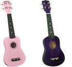 LOT OF 2 Diamond Head Soprano Ukuleles For Parts DU 108 Purple