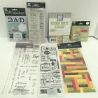 FAMILY Quotes Sayings Boys Dad Scrapbook Embellishments Stickers Lot of 7