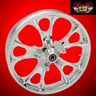 Coastal Moto Largo chrome 21 inch front wheel for 2008 2019 ABS Harley Touring