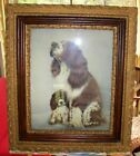 Antique Gold Gilt Frame  W/Dog Print