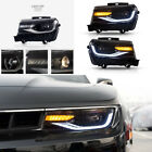 New Front LED Projector Headlights Pair For 2014 2015 Chevrolet Chevy Camaro