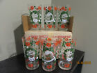 6 NICE Hazelware VINTAGE MERRY CHRISTMAS HAPPY NEW YEAR GLASS TUMBLERS with Box