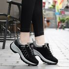 Women Casual Suede Athletic Running Sports Shoes Outdoor Hiking Sneaker Lace Up