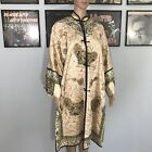 Rare Antique Silk Hand Embroidered Chinese Robe - Couched Gold Thread