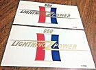 650 Lightning Power gold/red/white/blue side panel transfers,1967 BSA A65L, pair