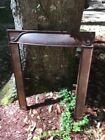 ANTIQUE CAST IRON FIREPLACE SURROUND GREAT PATINA SHABBY CHIC