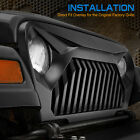 EAG TJ Upper Front Grille Overlay Grill Cover Fit for 97 06 Jeep Wrangler