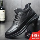 High Top Casual Flat Genuine Leather Fashion Sneakers Male Lace Up Zipper Shoes