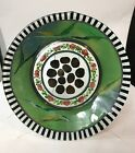 MacKenzie Childs 9 Plate Painted Glass Circus Roses