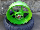 Kawasaki Ninja ZX6R ninja 600 2007 REAR WHEEL -- GREEN -- 2008  good shape 05-12