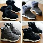 Winter snow warm shoes Leather Fur Lined Kid Girls boys Slip-On Ankle boots New