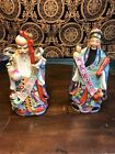 """ Chinese Porcelain Immortal Wise Man Deity Shou Lao Colorful Enamel Glazed"
