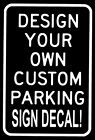 Personalized Business Store Parking Sign Decal Custom Text Vinyl Sticker Car Lot