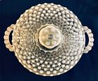 Anchor Hocking Hobnail Moonstone Opalescent Candy Dish w/ Lid and Handles
