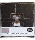 Scrapbook Album AMM All My Memories Brown Accordion Mini 4 by 4 FREE SHIPPING