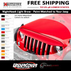 NightHawk Light Brow Grille Add On Matched Paint Color fit 07 18 Jeep Wrangler