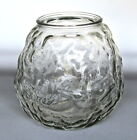 Anchor Hocking Venetian Clear Glass Candle Jar Hurricane Votive Holder 4.25