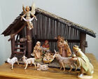 Vintage Fontanini Depose Italy Nativity Set 14 Pieces w Creche