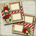 CHRISTMAS HOLLY 2 Premade Scrapbook Pages EZ Layout 3538