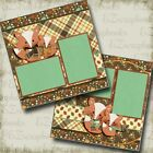 FOXY FALL 2 Premade Scrapbook Pages EZ Layout 3564