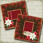 CHRISTMAS WREATH 2 Premade Scrapbook Pages EZ Layout 3624