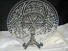 Anchor Hocking Thousand Line Serving Tray or Underplate Crystal Clear Stars Bars