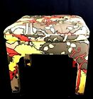 Wild Vintage MCM Milo Baughman Parsons Stool With Peter Max Upholstery