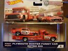 2018 Hot Wheels Car Culture Team Transport Duster and Retro RigMongoose