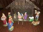 Vintage Nativity Crche from West Germany circa 1952 hand painted paper mache