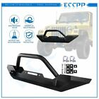 Black Textured Front Offroad Bumper Guard For 1987 2016 Jeep Wrangler TJ YJ