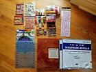 Scrapbooking supplies lot Stickers Brads Ribbon Cutting mat Album and more