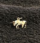 Sterling Silver ~1 gram Bull or Steer With His Head Lowered 3D Charm #508